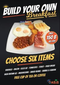 Build your own Breakfast @ The Oasis